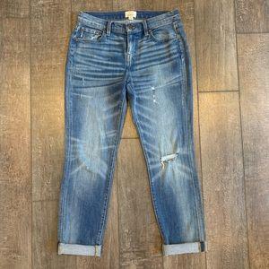 J. Crew Slim Broken-In Boyfriend Jeans